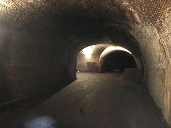 Ondergrondse gewelven in Rotterdam.