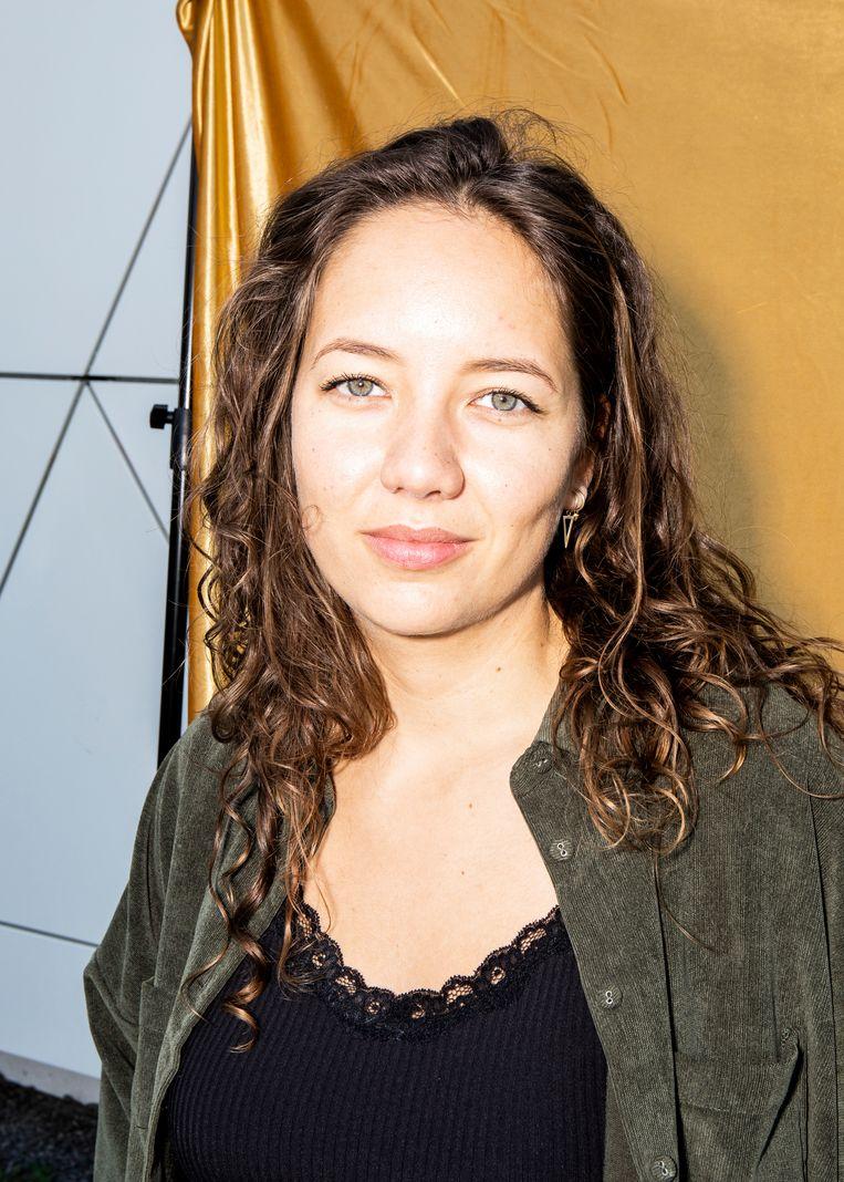 Rachel van Bruggen voor filmmuseum Eye. Beeld Hilde Harshagen