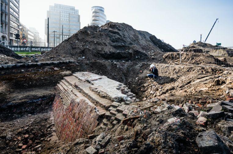 Archeologische werken ter hoogte van het Loodswezen