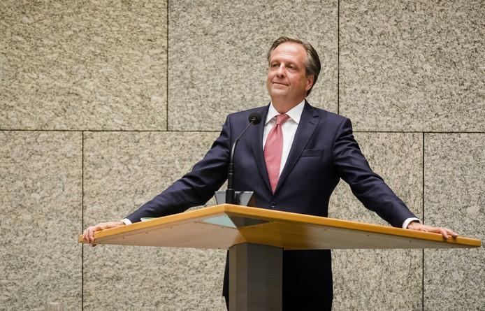 Alexander Pechtold (D66) tijdens de Algemene Politieke Beschouwingen. De fractieleiders van de politieke partijen bespreken de hoofdlijnen van de Miljoenennota en de rijksbegroting.