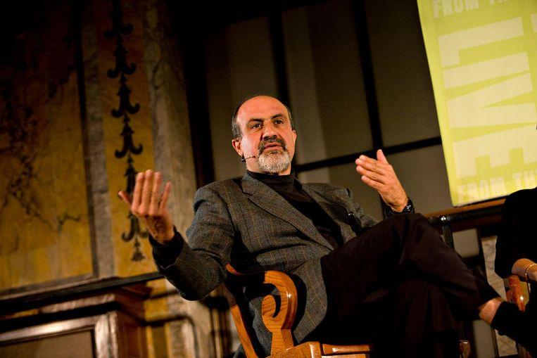 Libanees-christelijke auteur Nassim Taleb, die in zijn boek Antifragile (Onbreekbaar) het heil van de chaos, de willekeur en de fouten bezingt. Beeld Bloomberg via Getty Images