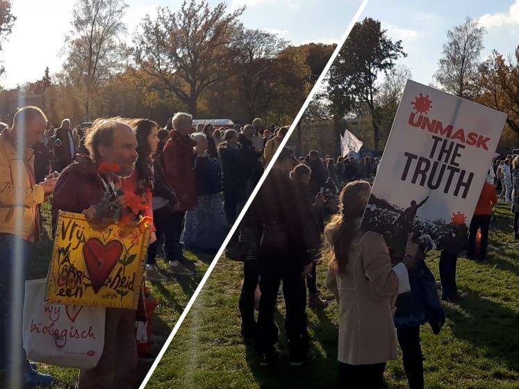 Coronaprotest in Apeldoorn start grillig: demonstranten houden geen afstand