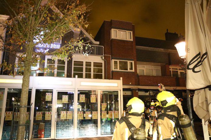 Brand bij brasserie Mirell in Naaldwijk