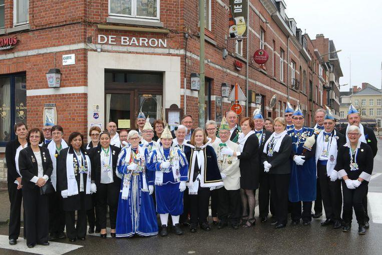 De Ridders van Brunengeruz bij de start van het carnavalsseizoen op 11 november.