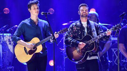 Justin Timberlake zingt 'What Goes Around' met Shawn Mendes