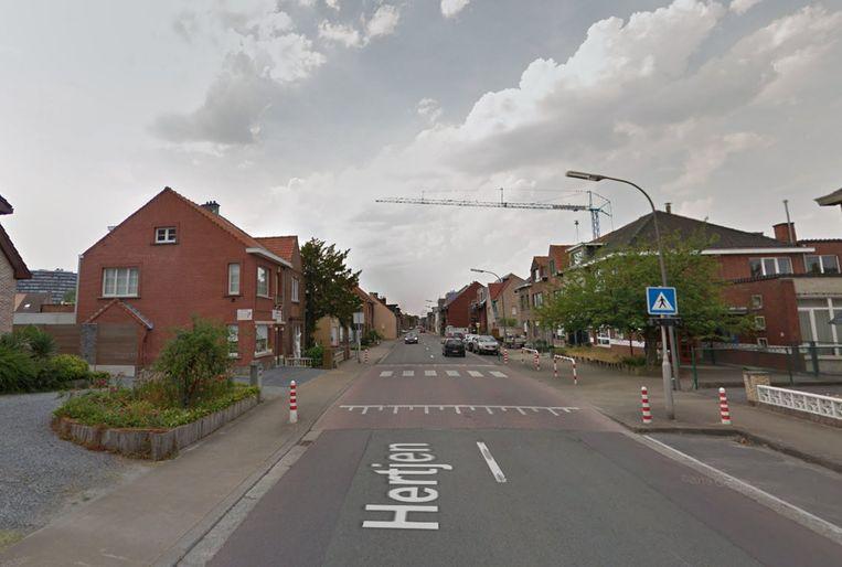 De verkeersdrempel in het Hertjen.