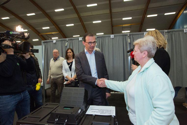 Wouter Beke gaat stemmen in Leopoldsburg