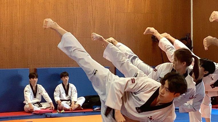 Koreaanse taekwondo-atleten in Brugge