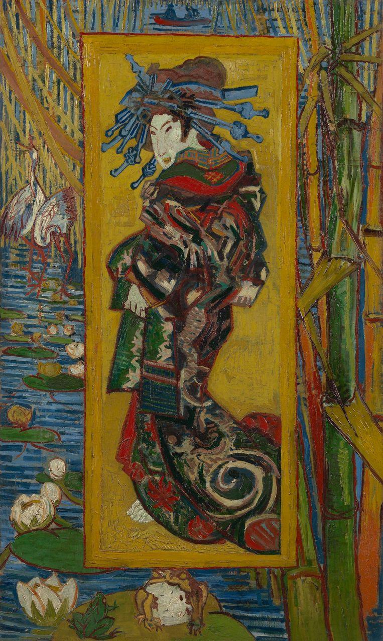 Van Goghs interpretatie van een courtisane, een vrouw van lichte zeden. Beeld Frank Castelein