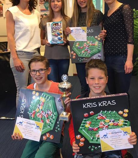 Wiskundekanjers Het Hooghuis Heesch winnen eerste prijs bij landelijke wiskundewedstrijd