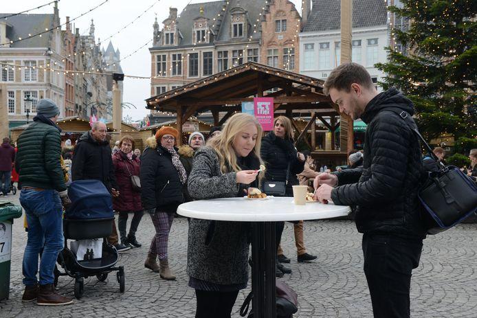 Geen gezellige kerstmarkt dit jaar in Brugge.