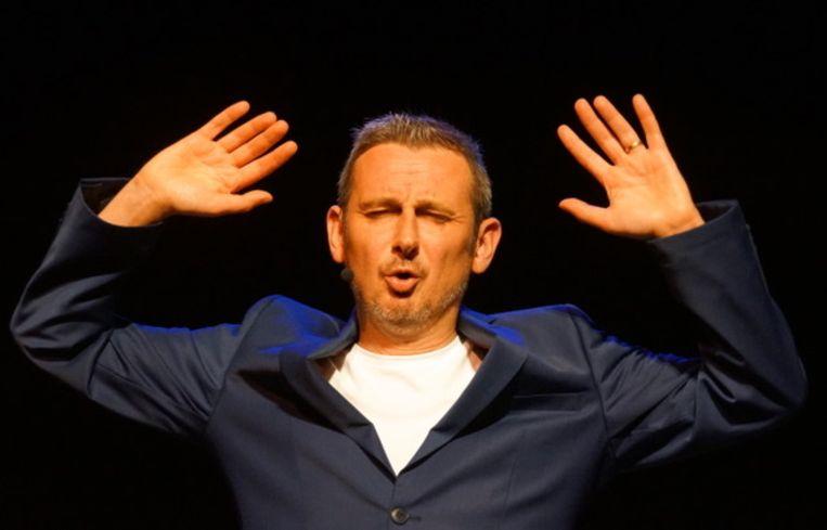 Peter Dewaeylheyns is op het podium Retep.