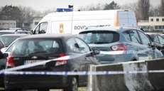 fotoreeks over Antwerpse politie onderschept wagen die aan hoge snelheid over Meir reed