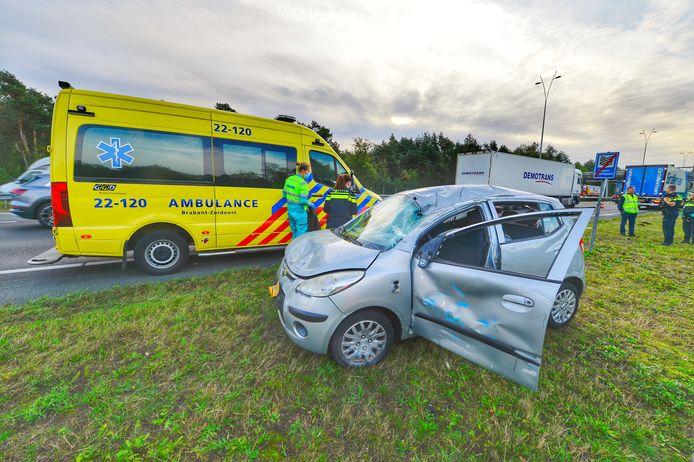 Bij het ongeval op de A2 is één gewonde gevallen.