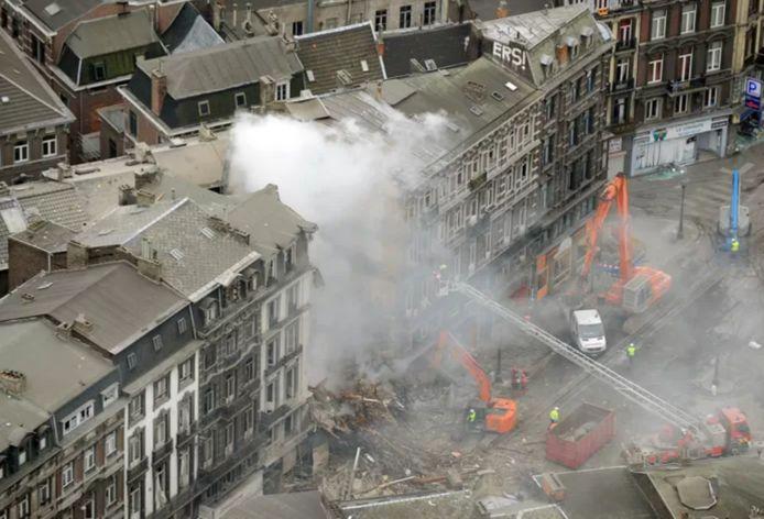 Explosion d'un immeuble situé rue Léopold, à Liège.