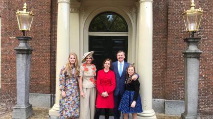 Koningsdag in Nederland: koningin Máxima draagt trendy broekrok van Belgisch modehuis Natan