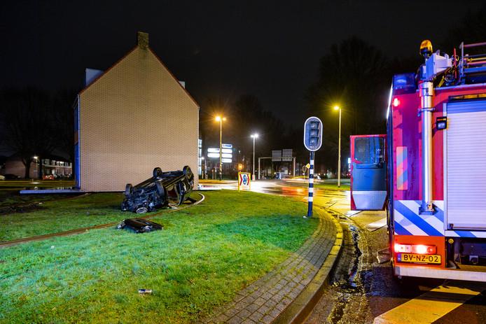 Ongeval bij draaiend huis Tilburg.