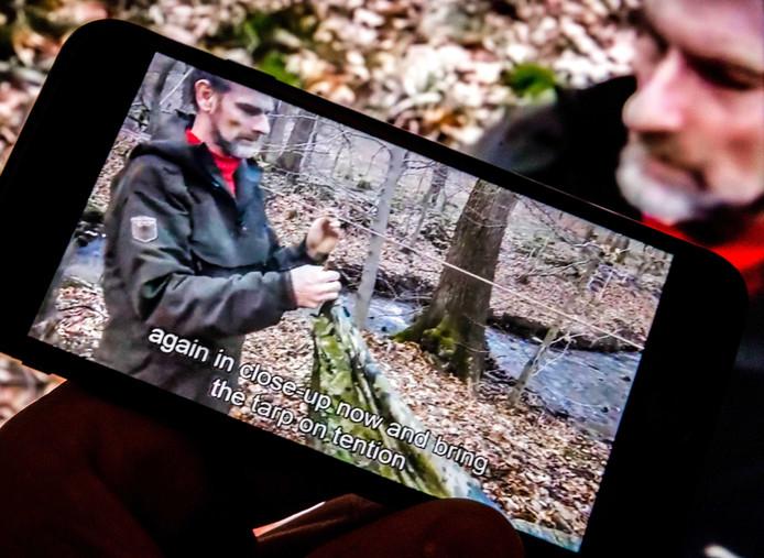 Een survivalfilm van de 55-jarige Jos Brech uit Simpelveld op YouTube.