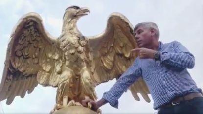VIDEO. Filip Dewinter (VB) klimt op dak Antwerps Stadhuis en haalt uit naar de islam