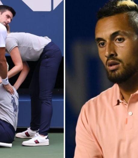 """Djokovic disqualifié, Kyrgios en rajoute une couche: """"Combien d'années j'aurais  été exclu?"""""""