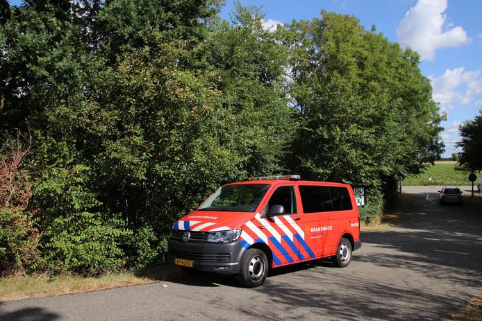 De brandweer ging met spoed ter plaatse naar het vakantiepark aan de Van der Sikkeweg in Poortvliet