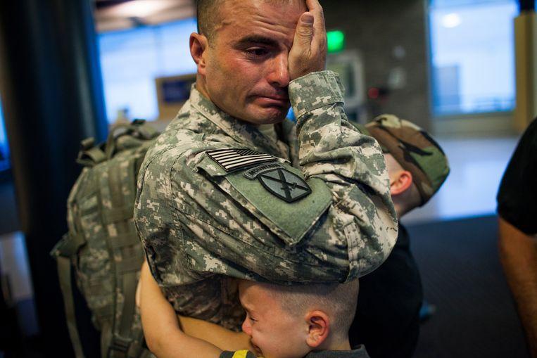Brian Eisch wordt twee keer voor zes maanden uitgezonden naar Afghanistan. Beeld The New York Times