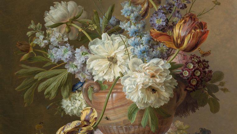 Gerard van Spaendonck, Bloemstilleven in albasten vaas. Beeld Carola van Wijk/Rijksmuseum