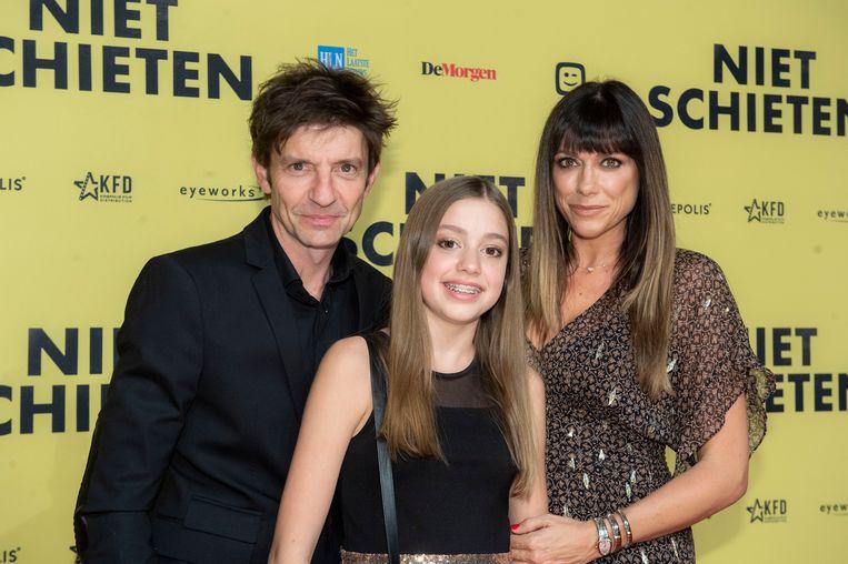 Koen Wauters met vrouw Valérie De Boosere en dochter Zita Wauters, die ook een rol heeft in de film.
