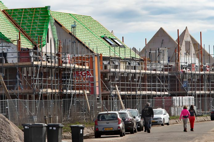 Nieuwbouw in de wijk Nuenen-West.