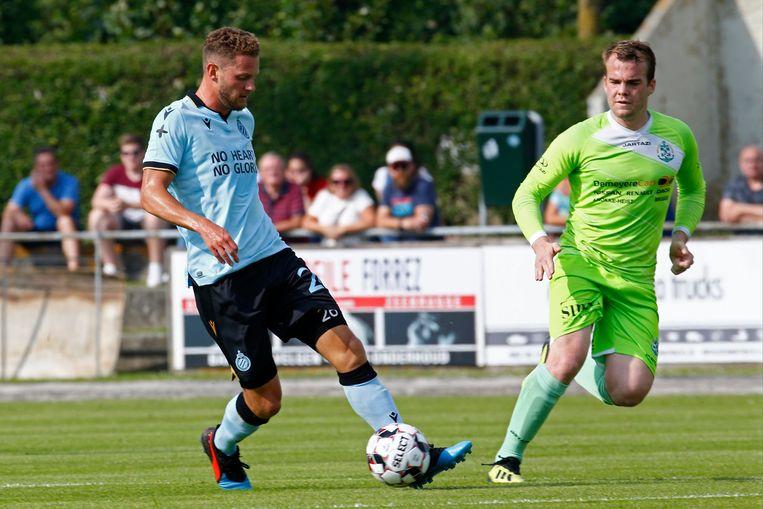 Mats Rits in de voorbereiding op het nieuwe seizoen tegen KFC Heist.