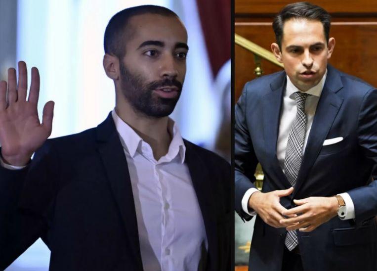 Links: Sammy Mahdi. Rechts: Tom Van Grieken.