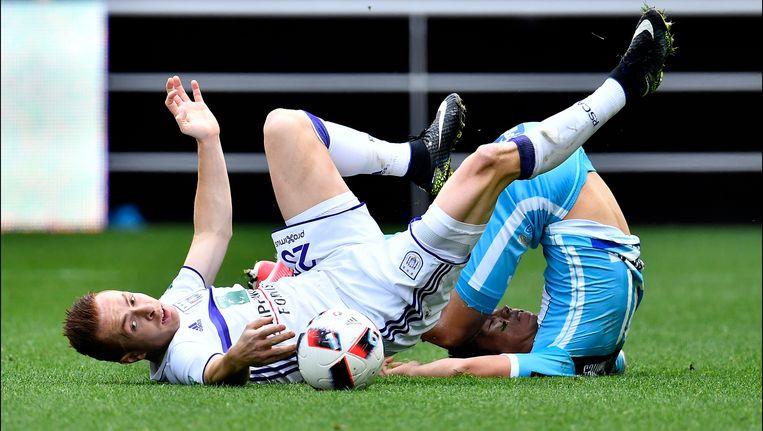 Anderlecht en AA Gent kwamen in de twee confrontaties in PO1 twee keer niet tot scoren.