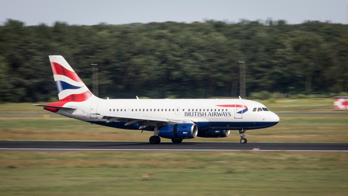 Foto ter illustratie: toestel van British Airways.