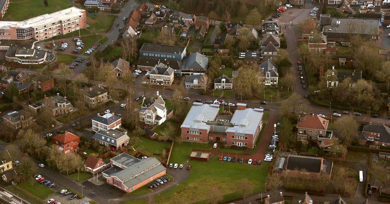Luchtfoto van de omgeving rond Loppersum.