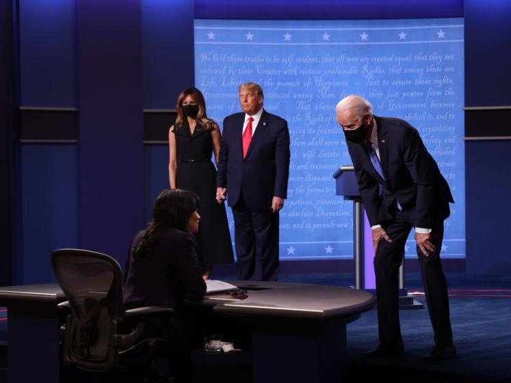 """Trump en Biden houden het beschaafd en inhoudelijk in laatste debat voor verkiezingen: """"We kunnen dit land niet stilleggen"""""""