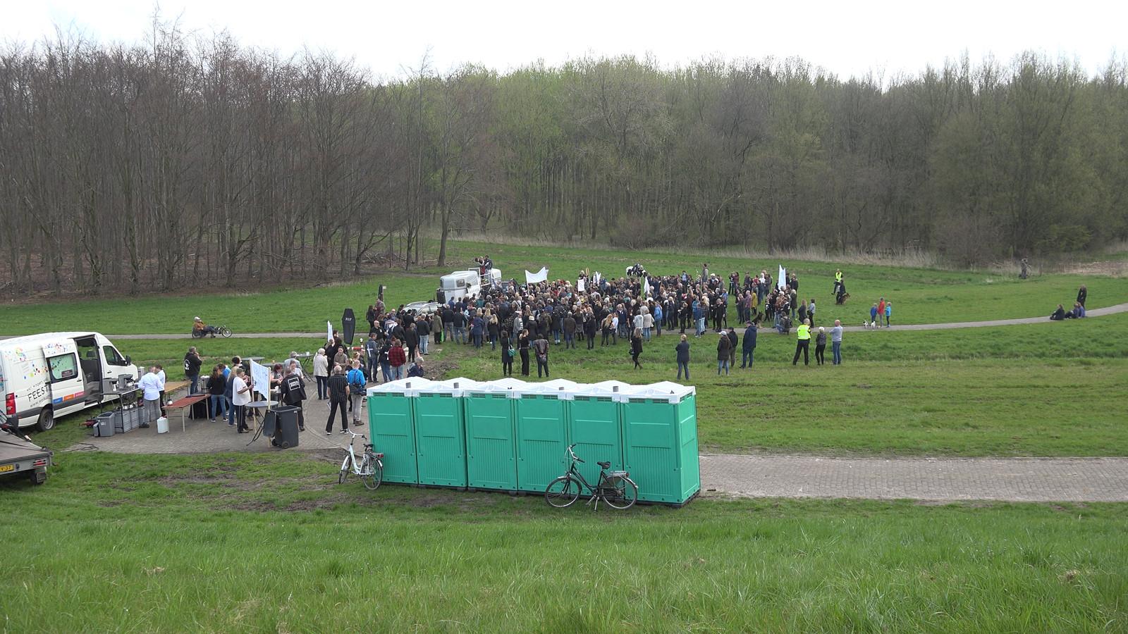 Protestacties bij de Oostvaardersplassen tegen het voerbeleid, eerder dit jaar.