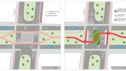 Kruispunt Prins Boudewijnlaan met Groenenborgerlaan en Ringlaan krijgt veilige fietsoversteekplaats