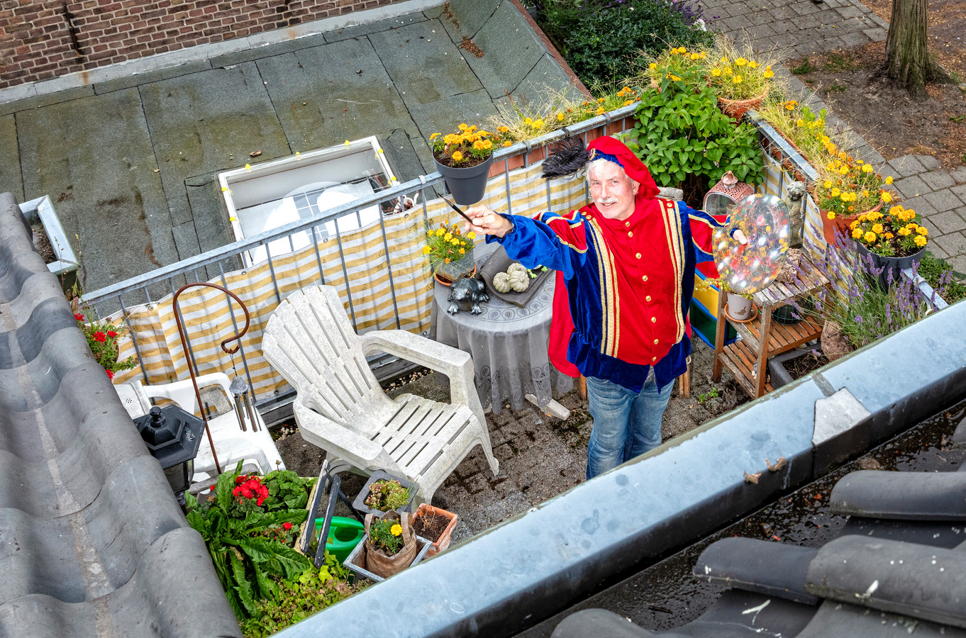 Op het balkon van Eddy Brunelli.