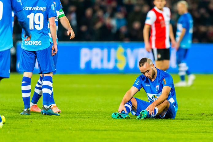 Iliass Bel Hassani, die geblesseerd uitviel tegen Feyenoord vorige week, maakt maandag zijn rentree op het trainingsveld van PEC Zwolle.
