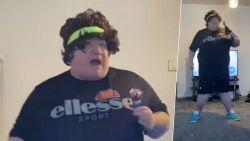 'Fitnessgoeroe' Fat Barney scoort met dolkomische coronaworkout