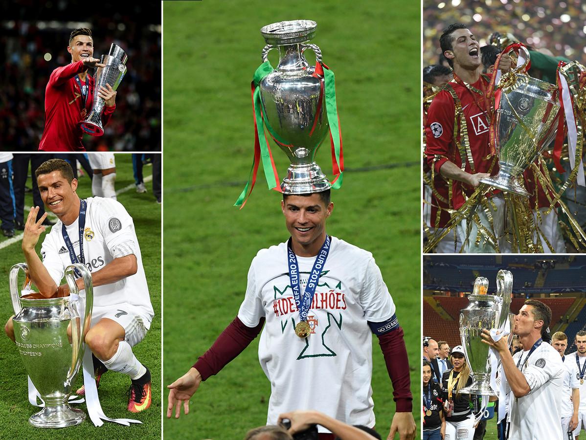Zes van de Europese prijzen voor Cristiano Ronaldo.