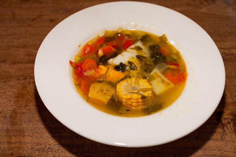 De Curaçaose soep van Milouska Meulens, recept hieronder.  Beeld Renate Beense