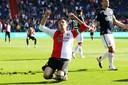 Steven Berghuis mist een enorme kans in de slotfase tegen FC Twente.