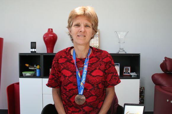 Corinne Debaets met haar laatste bronzen medaille