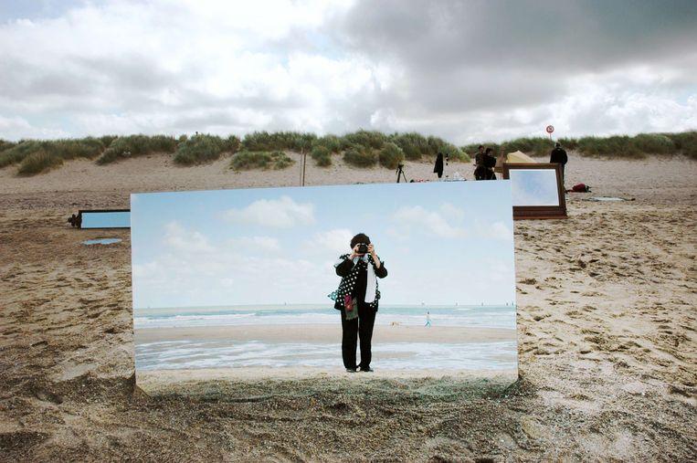 Een zelfportret voor Les plages d'Agnes. Beeld null