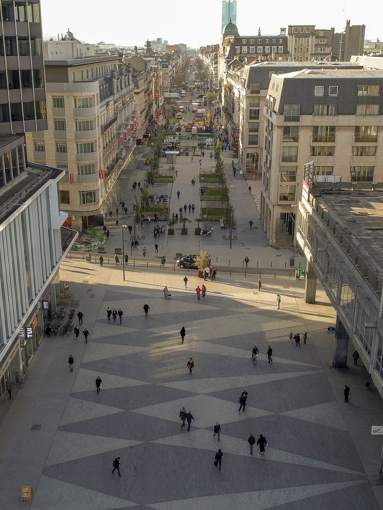 Vorderingen voetgangerszone.