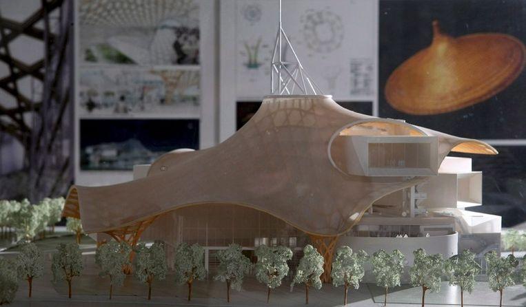 Een maquette van de vestiging van Centre Pompidou in Metz. Foto EPA Beeld