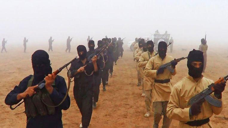 IS strijders, beeld uit een propagandafilmpje. Beeld