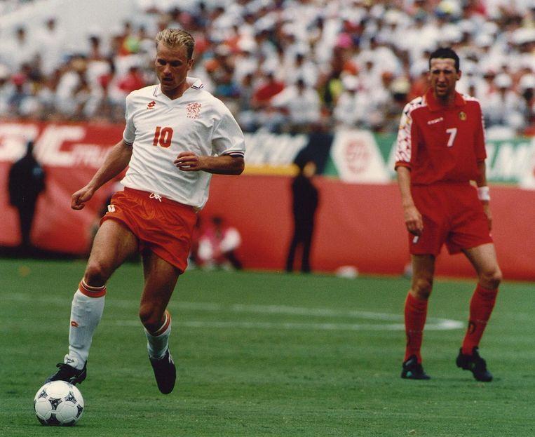Dennis Bergkamp op het WK in Amerika (1994) tegen België. Beeld anp