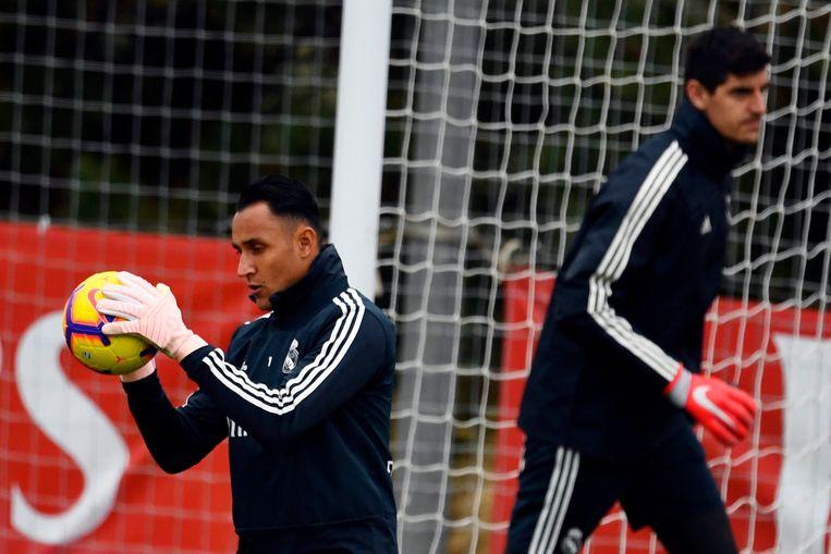 Keylor Navas en Thibaut Courtois vorig seizoen in Madrid.